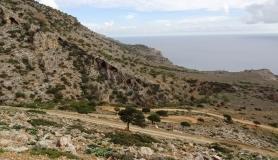 caves in the rocky Atserousia mountains south Creta