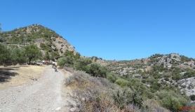 uphill to Eligias plateau