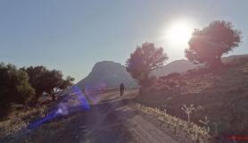 Kerato peak and mountain biker