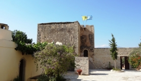 agiofaraggo mountain bike tour Crete Xopateras tower moni odigitrias