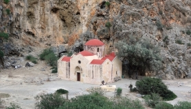 agiofaraggo mountain bike tour Crete agios antonios church