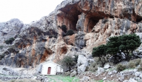 Agios Myronas Rizinia Vathia bike tour Agios Charalampos church