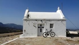 Agios Myronas Rizinia Vathia bike tour Agios Panteleimon church