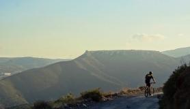 Agios Myronas Rizinia Vathia bike tour Rizinia north side view