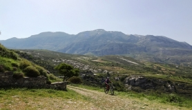 Agios Myronas Rizinia Vathia bike tour green landscape