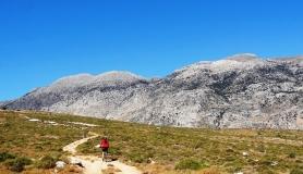 Agios Myronas Rizinia Vathia bike tour koudouni mountain in summer