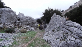 Agios Myronas Rizinia Vathia bike tour on the way to Agios charalampos church