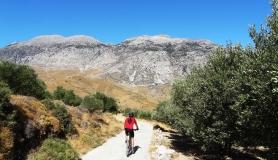 Agios Myronas Rizinia Vathia bike tour on the way to Vathia valey