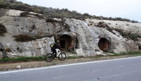 Agios Myronas Rizinia Vathia bike tour siderospilia