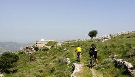 Agios Myronas Rizinia Vathia bike tour the path to Agios Panteleimonas church