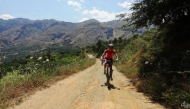 Dikti mountains and mountain bikers