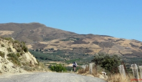 avgerinos Rocca mountainbike tour of Crete Monodendri mountain view from Douli