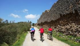 ebike tour hersonisos heraklion Crete Greece roman aqueduct