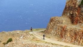 mountain bikers. Aforesmenos Crete