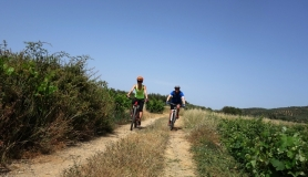 cyclist lady at Crete cyclingcreta bike rentals Crete guided tours