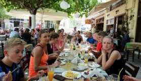 lunch and dinner cyclingcreta bike rentals Crete guided tours