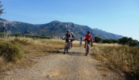 pastures olives and vine yards cyclingcreta bike rentals Crete guided tours
