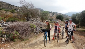 stop to smell and taste the herbs cyclingcreta bike rentals Crete guided tours