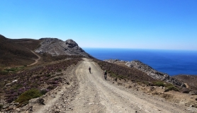 the fast downhill section from the highest point to agia Moni church