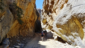 the narrow pass through Tripitis canyon
