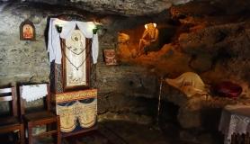 Church in the cave koudoumas monastery