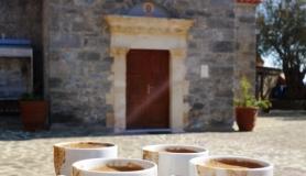 Panagia church at the monastery kapetaniana kofinas koudoumas mountain bike tour Crete Kreta
