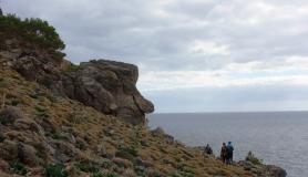 facelike rock kapetaniana kofinas koudoumas mountain bike tour Crete Kreta
