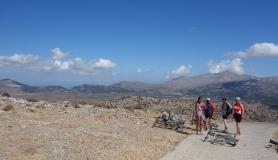the top of the tour. Dikti mountains Crete