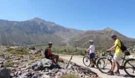 the highest point of the bike tour at 1204 meters with panoramic view
