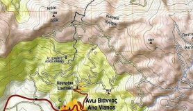 Anavasi hiking map