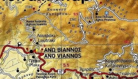 terrain map of Crete Viannos Dikti