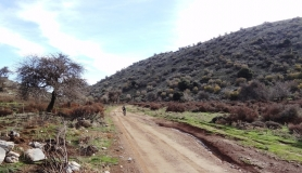 on the way to Livadi plateau Mitato bike tour Crete