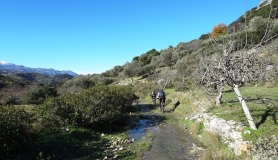 the old road aftr Kamariotis Mitato bike tour Crete