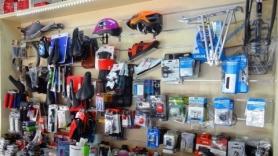 bike accessories at moraitis bike shop Heraklion
