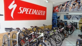 the bike show room at Moraitis bike shop. heraklion city specialized dealer
