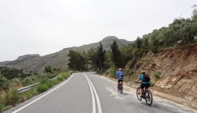 cyclists before Amigdali village Crete