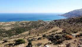 the serpentine road to dermatos. Libyan sea south Crete