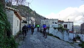 stone village bike tour Agios Thomas Adrachtia village