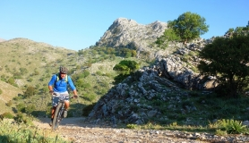 big rocky mountain at Psiloritis mountain Kreta