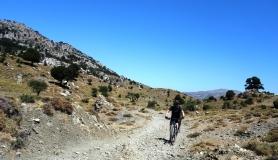 road inKatharo plateau Crete