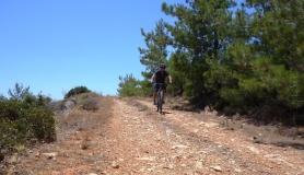 bike braking path near Prina village