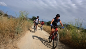 riding in lasithi plateau. Trans Dikti