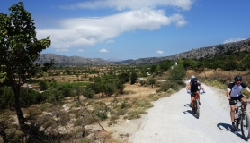 ancent from Lasithi plateau to katharo. Trans Dikti