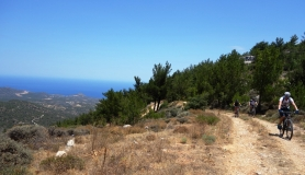 the Pine forest and amazing view of Merabelo bay