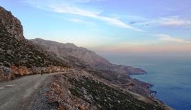 descending to Treis Ekklisies south Crete