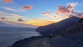 sunset at Asterousia mountains Treis Ekklisies