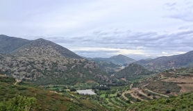 the view of Fodele village from above