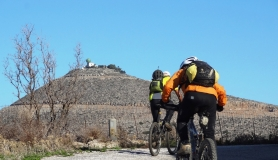 cyclists and vasilikosmountain Rogdia Fodele Crete