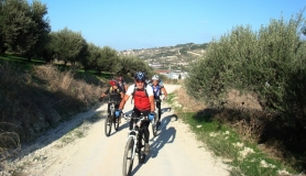 Xerolia mountain bike tour near Heraklion Crete giorgio