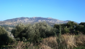 Xerolia mountain bike tour near Heraklion Crete giouchtas and moon